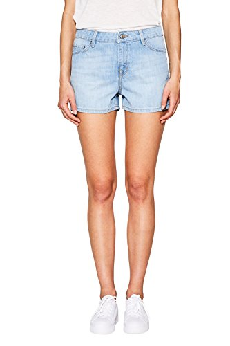 edc by ESPRIT Damen 067CC1C007 Shorts,,per pack Blau (Blue Light Wash 903),W27 (Light Wash Frauen)