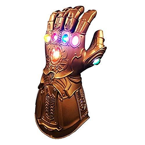 PVC-Handschuhe, Avengers Children's Fighter-Handschuhe, 6 LED Shiny Gemstones, Rollenspiel-Handschuhe, Halloween-Requisiten