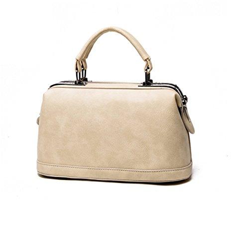 PACK Europa Und Die Vereinigten Staaten Große Taschen Soft Handles Handtaschen Pu Leder Eimer Tasche Schultertasche Handtasche,A:Green D:Beige