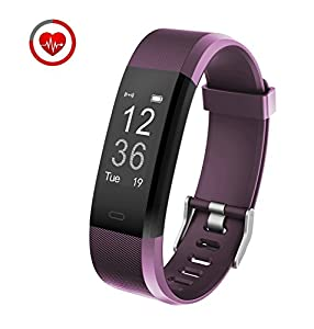 Fitness Tracker HR Vigorun YG3 Plus Bluetooth Point Touch Activity Tracker for Android&iOS Smartphones (Purple)