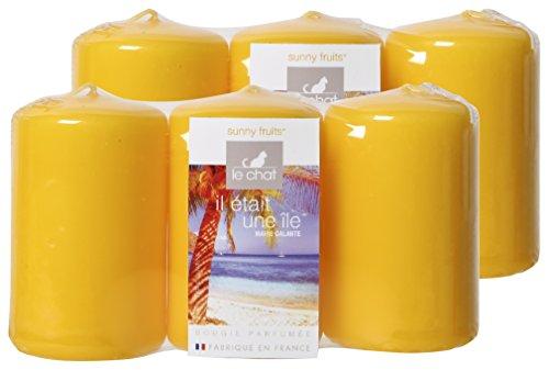 Chateando 01189816 Marie Galante 2 Lotes 3 Velas perfumadas Exótico Pequeño Amarillo Modelo TP/Sunny Frutas