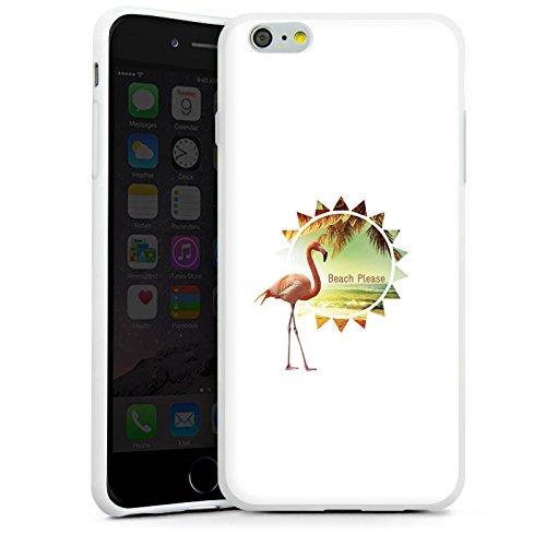 Apple iPhone X Silikon Hülle Case Schutzhülle Flamingo Beach Urlaub Silikon Case weiß
