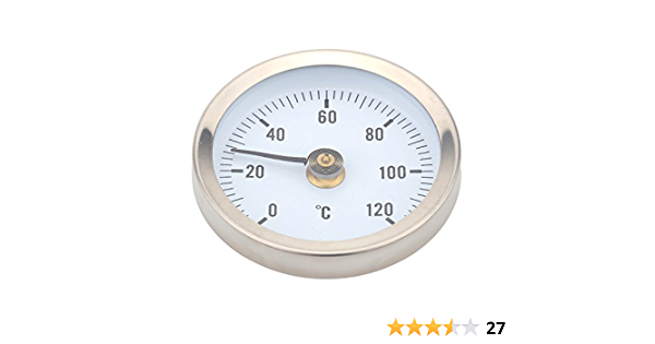 Kkmoon 0 120 Thermometer Bimetall Edelstahl Oberfläche Rohr Clip On Temperaturanzeige Mit Feder Gewerbe Industrie Wissenschaft