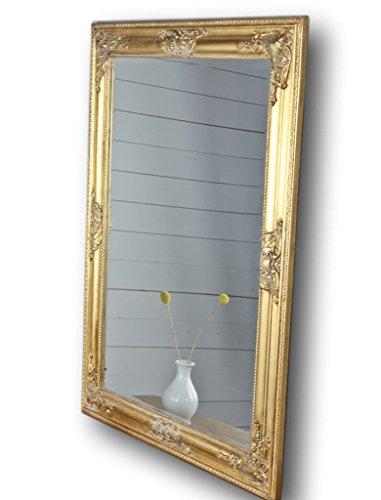Miroir doré Ancien 82 x 62 x Miroir de Salle de Bain en Bois Style Baroque sur Pied