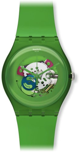 Swatch SUOG103 - Reloj analógico de cuarzo unisex con correa de plástico, color verde