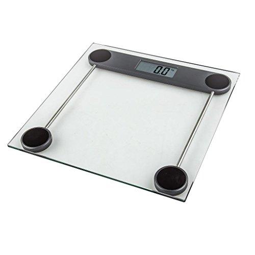 Elektronische Personenwaage digital quadratisch Glas Kuken Precision 180kg (Quadratische Glas-plattform)