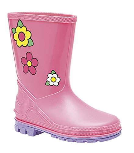 Stormwells Girls Junior Kids Puddle Wellies. Kids Sizes from 4JR UK