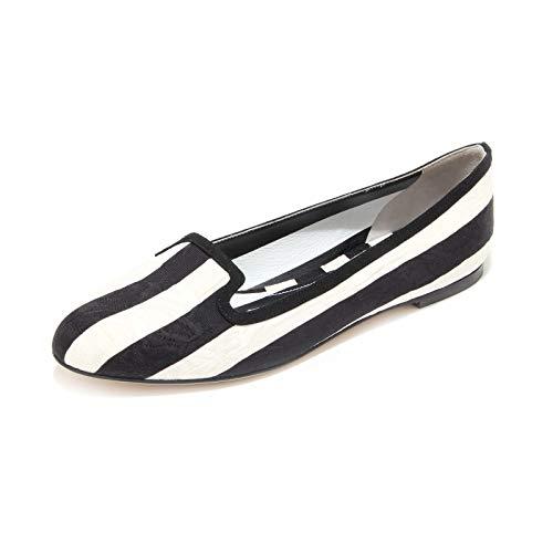Dolce & Gabbana 3544L Ballerine Donna Nere D&G Tessuto Scarpe Shoes Women [37] -