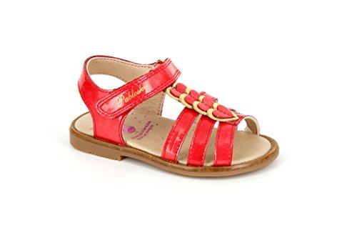 Pablosky Unisex, bambini 86269 Sandali con velcro Rosso Size: 25
