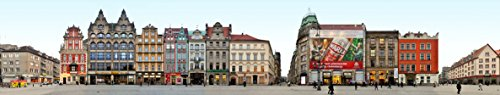 Panorama Streetline Breslau Polen Magnet (18 x 3.5 cm) Rynek Ostseite | Grosser Ring zu Breslau...