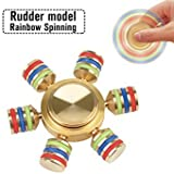 Wicrotec Siw Hexagon Rainbow Fidget Spinner, Gold