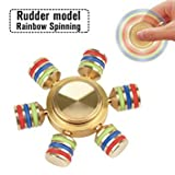 #9: SIW Hexagon Rainbow Fidget Spinner Hand Spinner Brass Metal For Anti Relieve Stress DHD Anxiety Autism Stress Reducer Toy Spiner