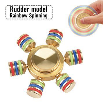 SIW Hexagon Rainbow Fidget Spinner Hand Spinner Brass Metal For Anti Relieve Stress DHD Anxiety Autism Stress Reducer Toy Spiner
