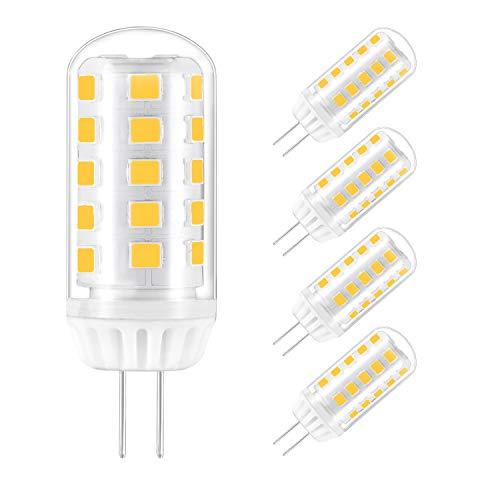 LED G4 Lampe 4W warmweiss G4 stiftsockel Glühbirnen Ersatz für G4 28W 30W 40W Halogenlampen, 12V AC/DC, 360° Abstrahlwinkel, G4 LED Leuchtmittel Birne, Nicht Dimmbar, 5er Pack Yuiip