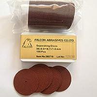 Portal Cool Productos de laboratorio dental, discos de separación 100 pcs/caja, 38 * 0.6~0.7 * 1.8mm