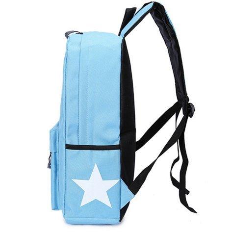 Ohmais Rücksack Rucksäcke Rucksack Backpack Daypack Schulranzen Schulrucksack Wanderrucksack Schultasche Rucksack für Schülerin blauer Himmel