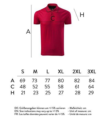 Modisches Herren Poloshirt Grand - Super Premium Stoff & Shirt Schnitt | 100% merzerisierte Baumwolle Seidenglanz | S - XXXL Rot