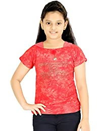 Bluntly Embellished Cotton Top For Girls
