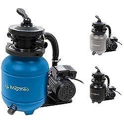 Miganeo 40385 Sandfilteranlage Dynamic 6500 Pumpleistung 4,5m³ blau, grau, schwarz, für Pool Schwimmbecken (Blau)