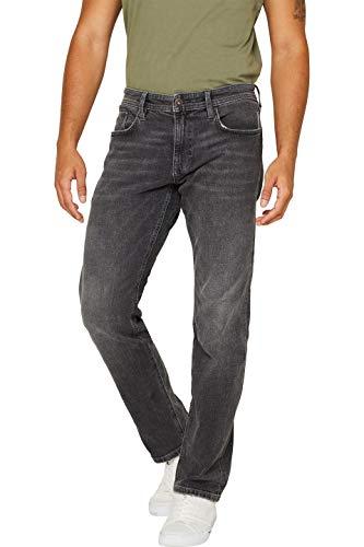 edc by ESPRIT Herren 089Cc2B007 Straight Jeans, Grau (Grey Medium Wash 922), W36/L32 (Herstellergröße: 36/32)