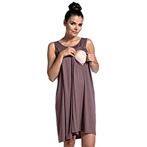 Womens Maternity Nursing Nightdress Breastfeeding Nightie 994c Zeta Ville