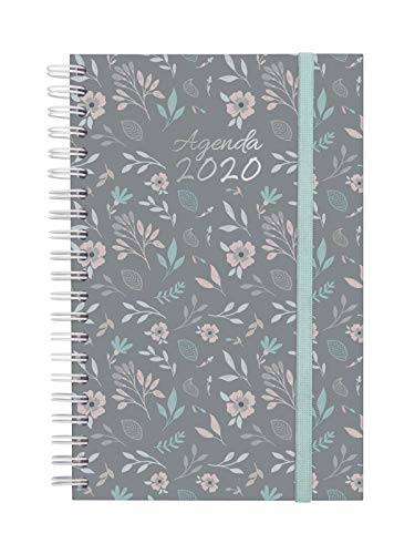Finocam Espiral You Floral, Agenda 2020, Mediano - E5-117 x 181 mm