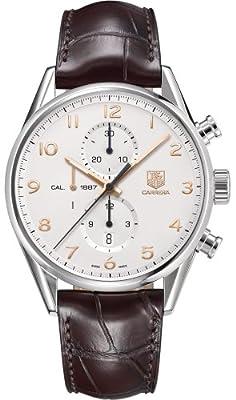 TAG Heuer - Reloj de pulsera hombre, piel, color marrón