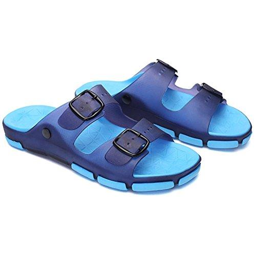 SHANGXIAN Männer und Kinder Hausschuhe & Flip-Flops Sommer Latex lässig flachen Ferse andere Walking blau braun , a , 41