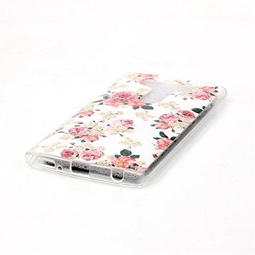 Qiaogle Téléphone Coque - Soft TPU Silicone Housse Coque Etui Case Cover pour Apple iPhone 5C (4.0 Pouce) - YH30 / Mignon chat sac dos YH25 / Big Rose