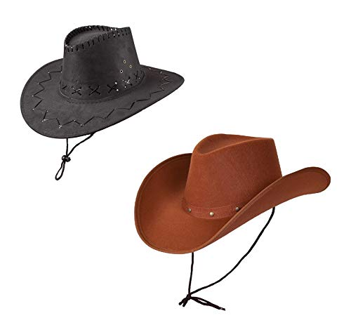 27ade9f5f25a6 Wicked Costumes - Sombrero Vaquero Gamuza Adulto Sombrero