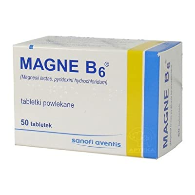 MAGNE B6 - 50 tablets - Supportive agent in atherosclerosis, hypertension, coronary heart disease, epilepsy. from Sanofi