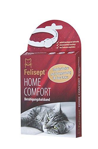 Felisept Home Comfort Beruhigungshalsband - Katzenhalsband mit natürlicher Katzenminze steigert Wohlbefinden & Entspannung bei Katzen -