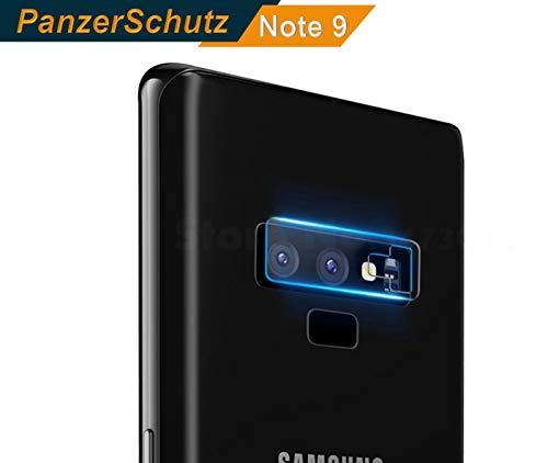 Genieforce ✔Premium Kamera Objektiv HD+ Panzerfolie für Samsung Galaxy Note 9 - Kameralinse Schutz - Tempered Glass Protector - inkl. 3-in- Einbauset
