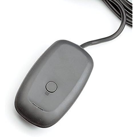 QUMOX Adaptador Receptor de Juego Control Mando USB Inalámbrico XBOX 360 Para PC Windows 7 / Vista / XP Color