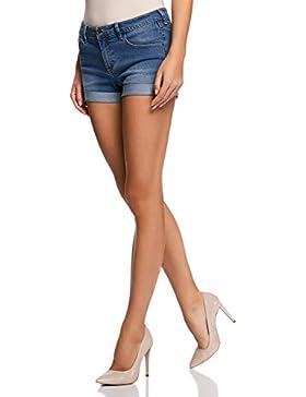 oodji Ultra Damen Jeansshorts Basic