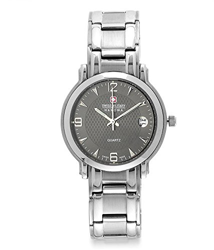 Swiss Military 6-547-BLK-STL  Analog Watch For Unisex
