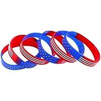 Amosfun 20 unids Deportes Pulsera de Silicona Personalizada Patrón de Estrella Pulsera Anillos de Mano Set Juego Decoración