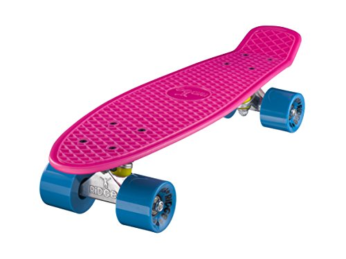 Ridge Retro Skateboard Mini Cruiser, rosa/blau, 22 Zoll