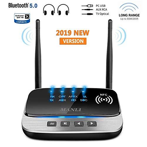 Bluetooth Adapter 5.0 Transmitter Empfänger, MANLI 3-in-1