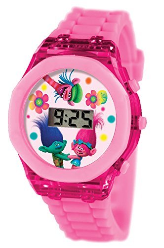 Joy Toy 65674 Trolls LCD Clock with Flash Light in an Oval Packaging by Toy Joy