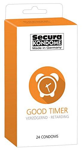 """Feuchtalarm - Kondome - Condome - Verschiedene Sorten für aufregende Vielfalt - Verhütung, die Spaß macht – 24er Packung - Made in Germany (Kondome """"Good Timer"""", verzögernd)"""