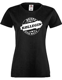 ShirtInStyle Lady T-Shirt Beste KOLLEGIN der Welt, StampStyle viele Farben, Größe XS-XXL