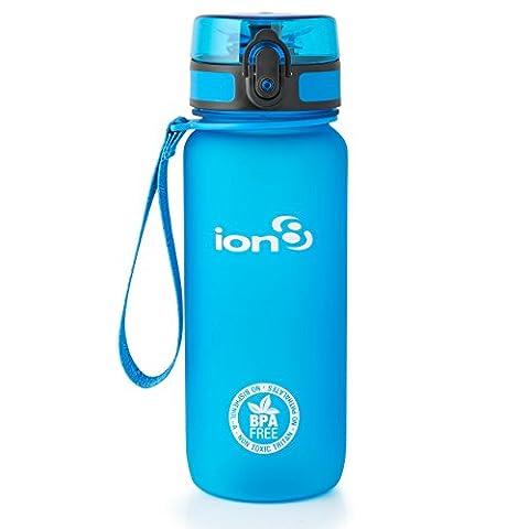 ion8 Unisex Leak Proof Bpa Free Cycling Water Bottle, Frosted Blue 750ml, 750 ml