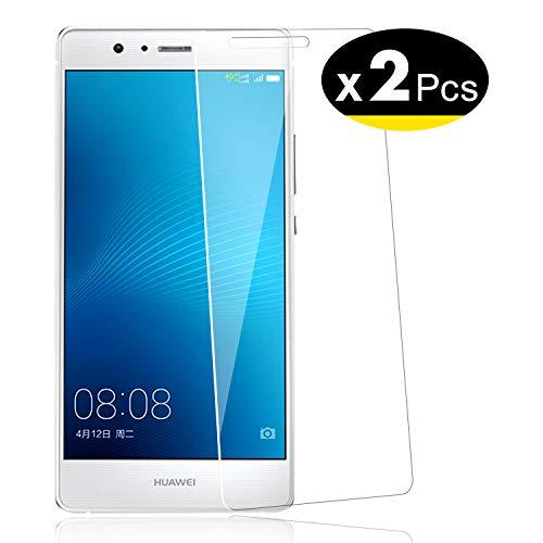NEW'C Lot de 2, Verre Trempé pour Huawei P9 (G9), Film Protection écran - Anti Rayures - sans Bulles d'air -Ultra Résistant (0,33mm HD Ultra Transparent) Dureté 9H Glass
