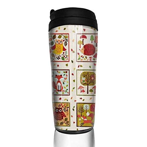 Travel Coffee Mug Animal Picture 12 Oz Spill Proof Flip Lid Water Bottle Environmental Protection Material ABS