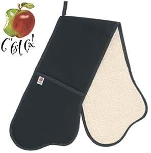 C'est Ca La Cuisine Double Oven Glove, Black