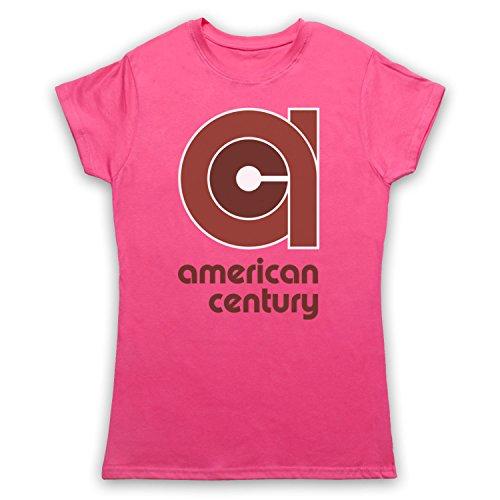 vinyl-american-century-record-label-camiseta-para-mujer-rosa-2xl