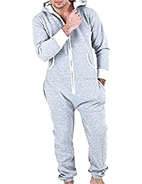80e9b7e9a86a Juicy Trendz Men s One Zip Onesie Hoodie Jumpsuit Playsuit All in One Piece