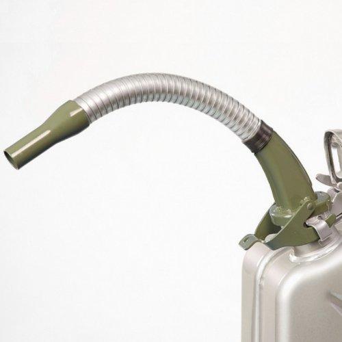 Oxid7® Ausgießer flexibel für Metall Benzinkanister Kraftstoffkanister - Olivgrün - aus Metall - passend für 5, 10 und 20 Liter Metallkanister