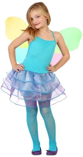 fee Mädchen Kostüm, Größe 140, blau (Tinkerbell Kostüme Schuhe)